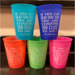 Social Distancing 16oz  frost flex cups (pk of 25)