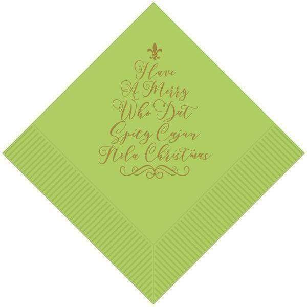 Spicy Cajun Christmas Napkins - Party Cup Express