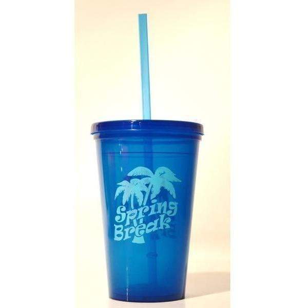 Spring Break 16oz Tumbler with Lid and Straw