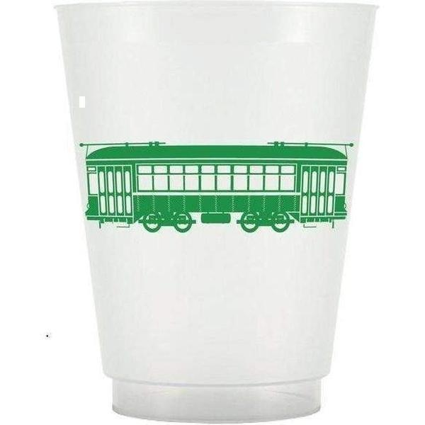 Green Streetcar Frost Flex Cups - Party Cup Express