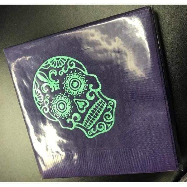 Day Of The Dead {Sugar Skull} Beverage Napkins (pk/25) - Party Cup Express