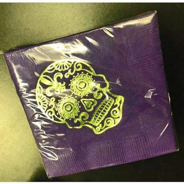 Sugar Skull Day Of The Dead Beverage Napkins-Party Cup Express