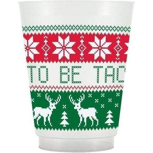 Tacky (Ugly) Sweater Christmas Cups