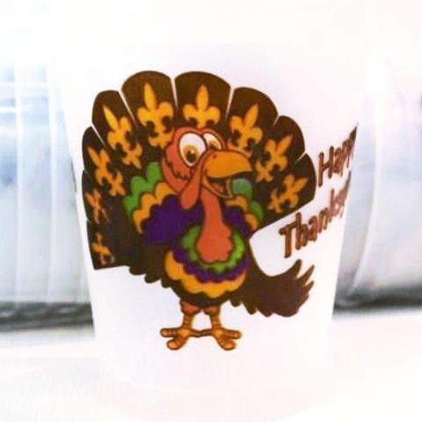 Thanksgiving Frost Flex Cups - Party Cup Express