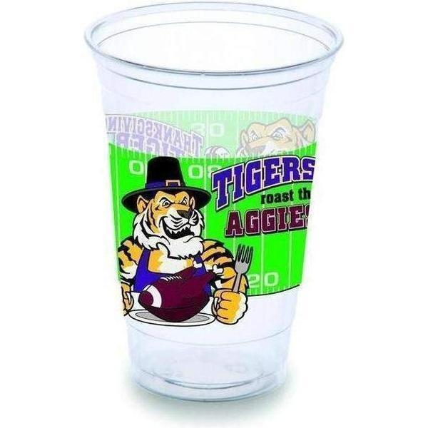 Thanksgiving Tiger Style Cups (Pk/25 or 50) - Party Cup Express