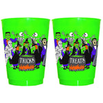 Tricks Treats 16oz Green Frost Flex Cups (pk of 25)