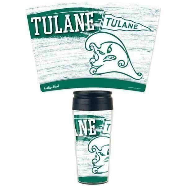 Tulane 16 oz Travel Mug
