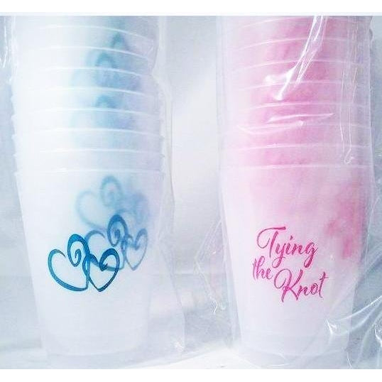 Tying The Knot Frost Flex Cups - Party Cup Express