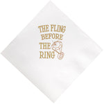 """Fling Before The Ring Beverage Napkins (pk/25)"