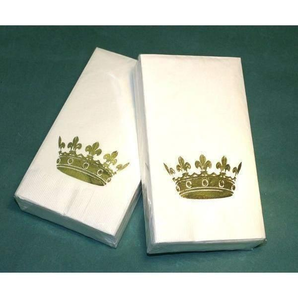 White or Ivory Crown Guest Towels - Party Cup Express