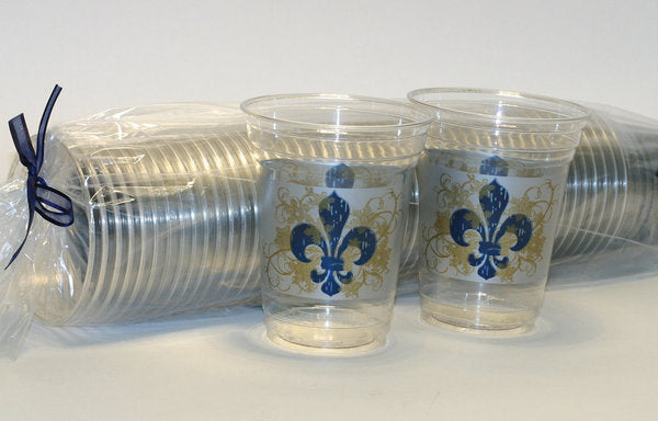 Winter Fleur de Lis Disposable Cups (50/pk)