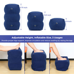 Inflatable Foot Rest Pillow Adjustable Height Portable