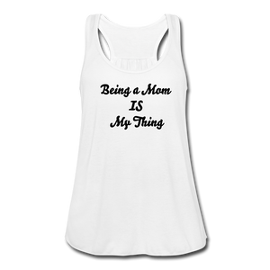 Women's Flowy Tank Top by Bella - white