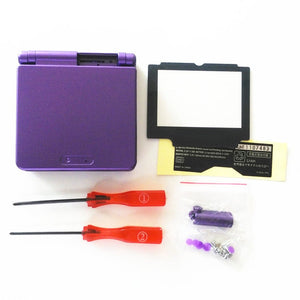 GameBoy Advance SP Solid Black Purple Replacement Housing Shell For GBA SP