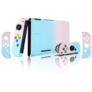 Gradient Pink Blue Shells JoyCon Backplate Kickstand with color button For Nintendo Switch