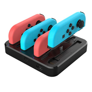 7 In 1 charger Dock Station Charger for Nintendo Switch Joy-Con and Pro Controllers