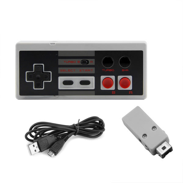 Nidoum NES Classic Edition Mini Controller (A + B Button Mode)  with 2.4G Wireless Receiver - Kartzill