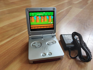 Gameboy Advance SP IPS V2 Custom SILVER Color