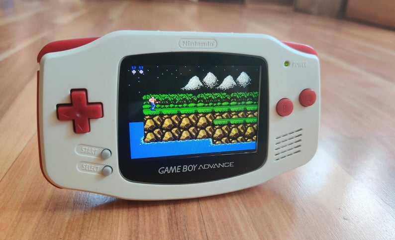 Gameboy Advance White IPS V2 Custom MOD