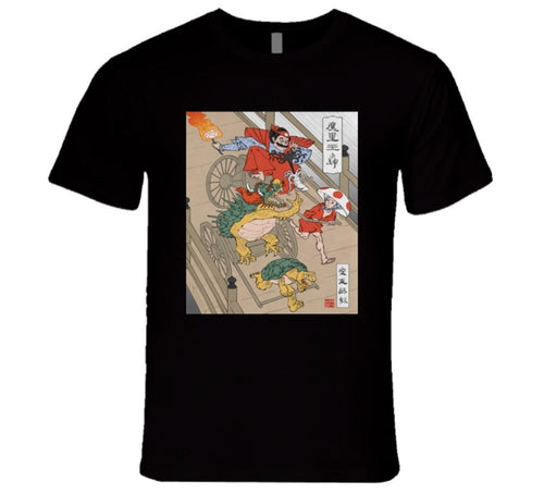 mario kart chineese illustration old papyrus T Shirt
