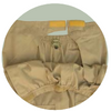 Drop front panel on senior's pants with limited mobility