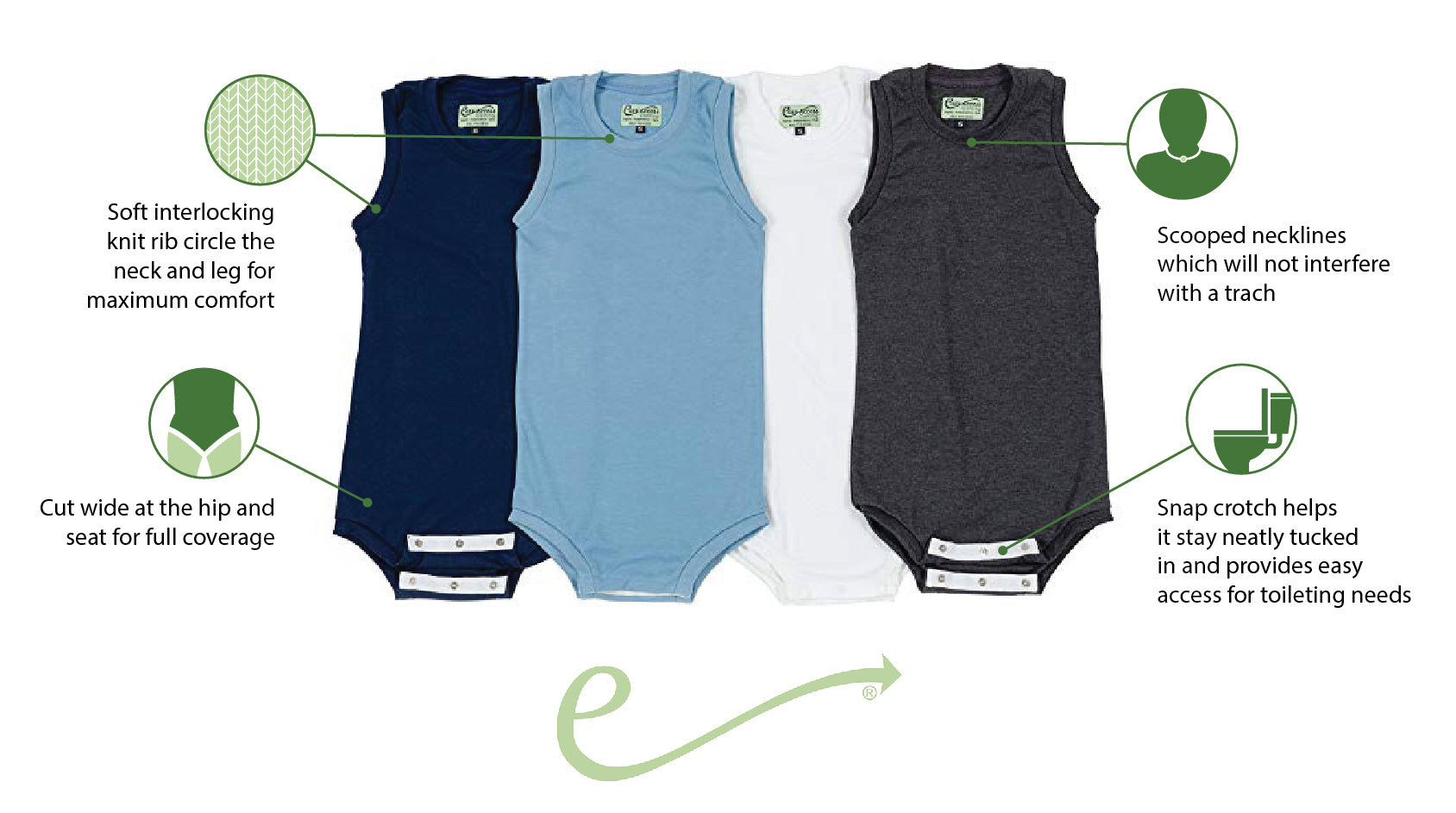 Easy access clothing features on children collection