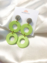 Load image into Gallery viewer, Green & Granite Statement Earrings
