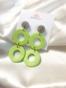 Green & Granite Statement Earrings