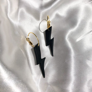 Lightning Bolt Hoops