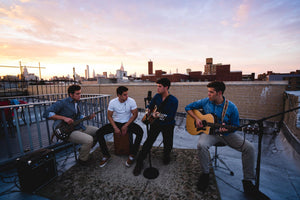 SWIM performing acoustic, rooftop NYC