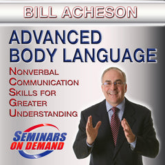 Advanced Body Language by Bill Acheson with Course Notes