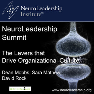 The Levers that Drive Organizational Culture with Dean Mobbs, Sara Mathew, and David Rock Audio Program BetterListen! - BetterListen!