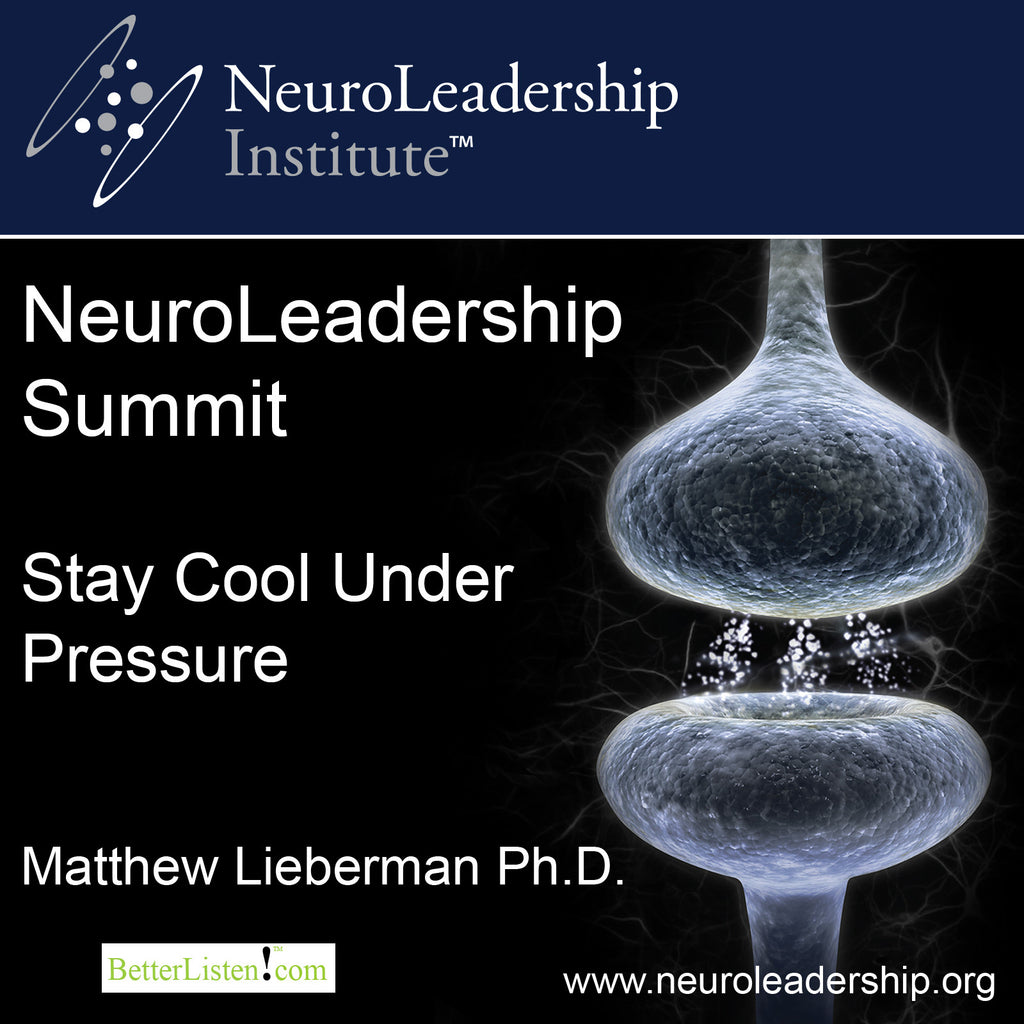 Stay Cool Under Pressure with David Rock & Matthew Lieberman Audio Program BetterListen! - BetterListen!