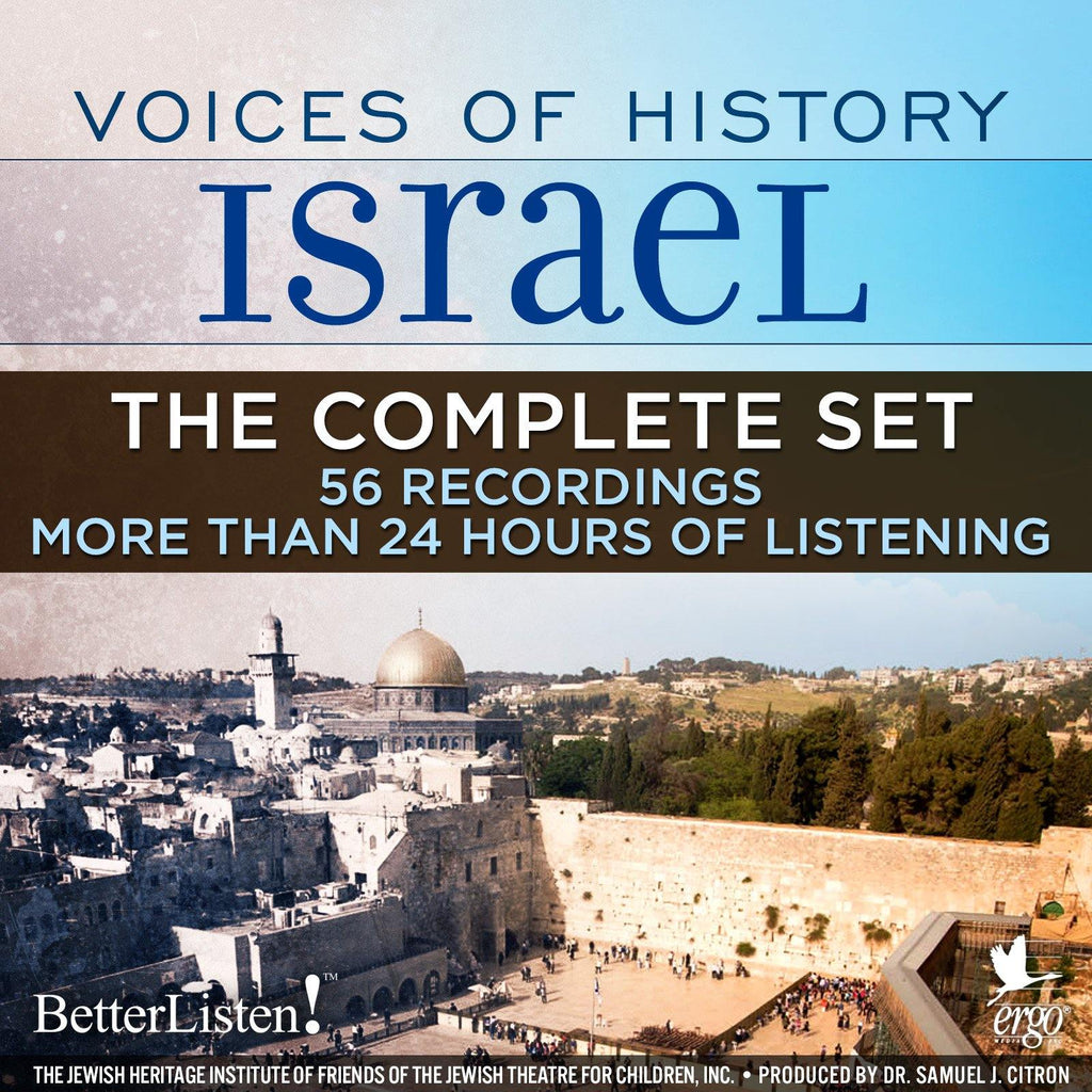 ONE TIME OFFER 50% OFF Voices of History Israel - Complete Set - BetterListen!