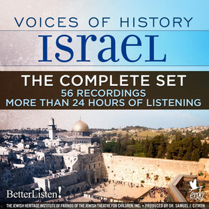 ONE TIME OFFER 50% OFF Voices of History Israel - Complete Set