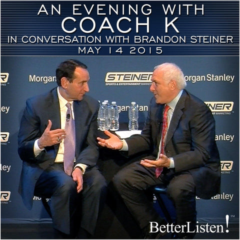An Evening with Coach K with Brandon Steiner