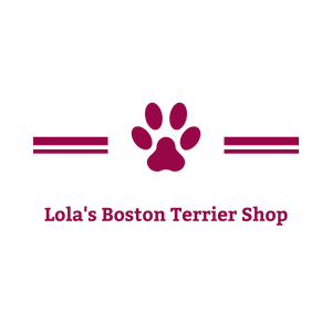 Lola's Boston Terrier Shop logo with paws
