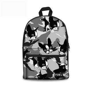 Boston Terrier Rucksack - Camouflage