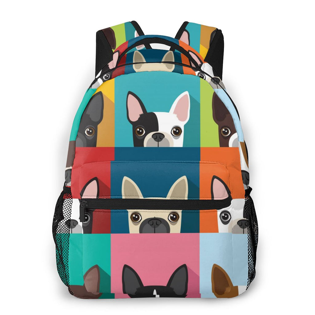 2020 Unisex Boston Terrier Backpack