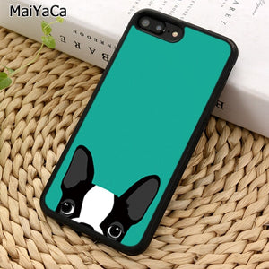 Boston Terrier Phone Case For iPhone X XR XS 11 Pro MAX 5 6 7 8 Plus Samsung Galaxy S5 S6 S7 S8 S9 S10