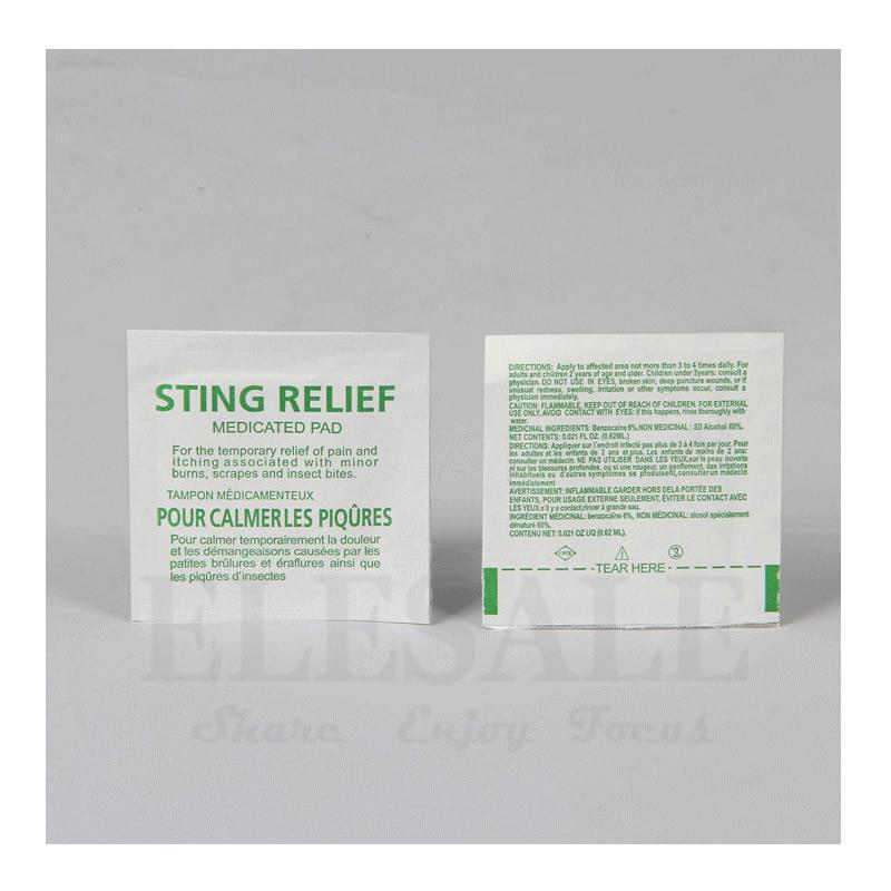 10-50-100pcs Sting Relief Medicated Pad Mosquito Sting itching Relief