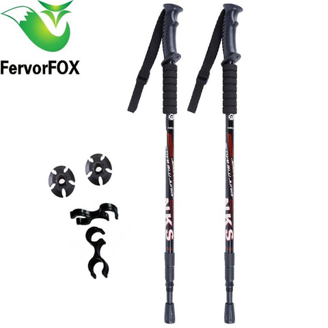 Ultralight Anti Shock Nordic Telescopic  Hiking Poles