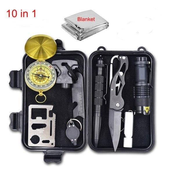 Tactical 10 in 1 Survival Gear Kit