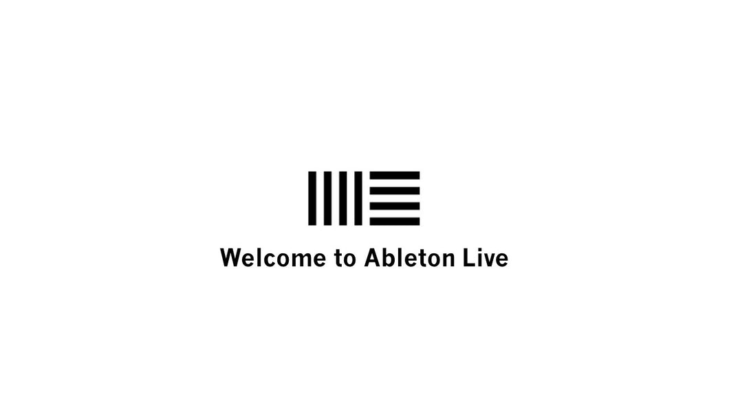 Welcome to Ableton Live