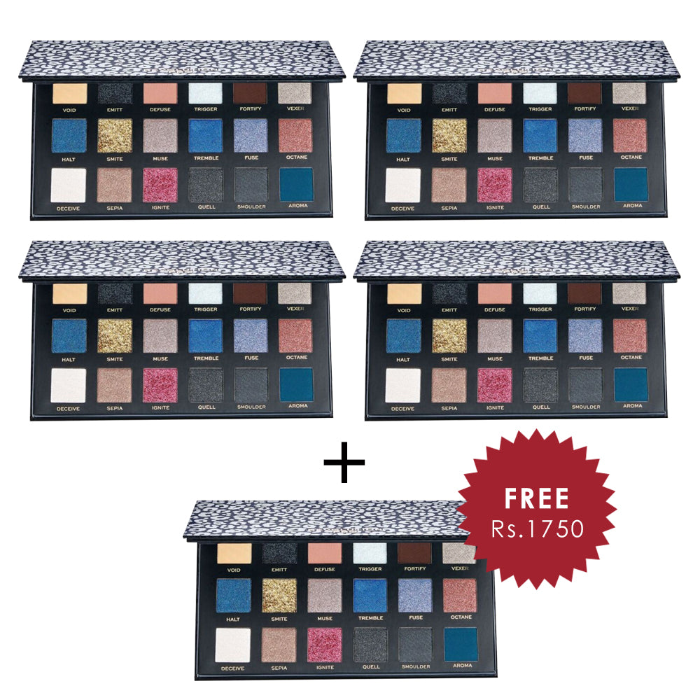 Revolution Pro New Neutrals Smoked Shadow Palette 4pc Set + 1 Full Size Product Worth 25% Value Free