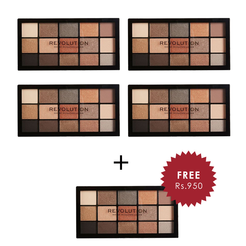Makeup Revolution Reloaded Iconic 2.0 Eyeshadow Palette 4Pcs Set + 1 Full Size Product Worth 25% Value Free