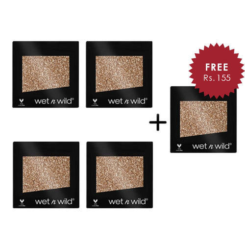 Wet N Wild Color Icon Eyeshadow Glitter Single - Toasty 4pc Set + 1 Full Size Product Worth 25% Value Free