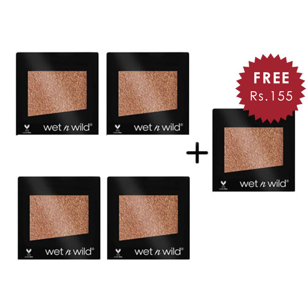 Wet N Wild Color Icon Eyeshadow Glitter Single - Nudecomer 4pc Set + 1 Full Size Product Worth 25% Value Free