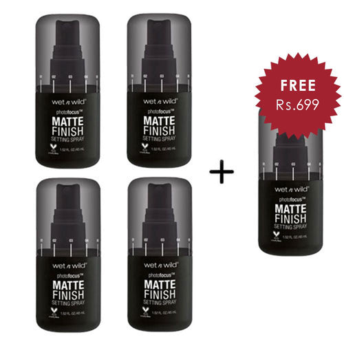 Wet N Wild Photo Focus Matte Setting Spray - Matte Appeal 4pc Set + 1 Full Size Product Worth 25% Value Free