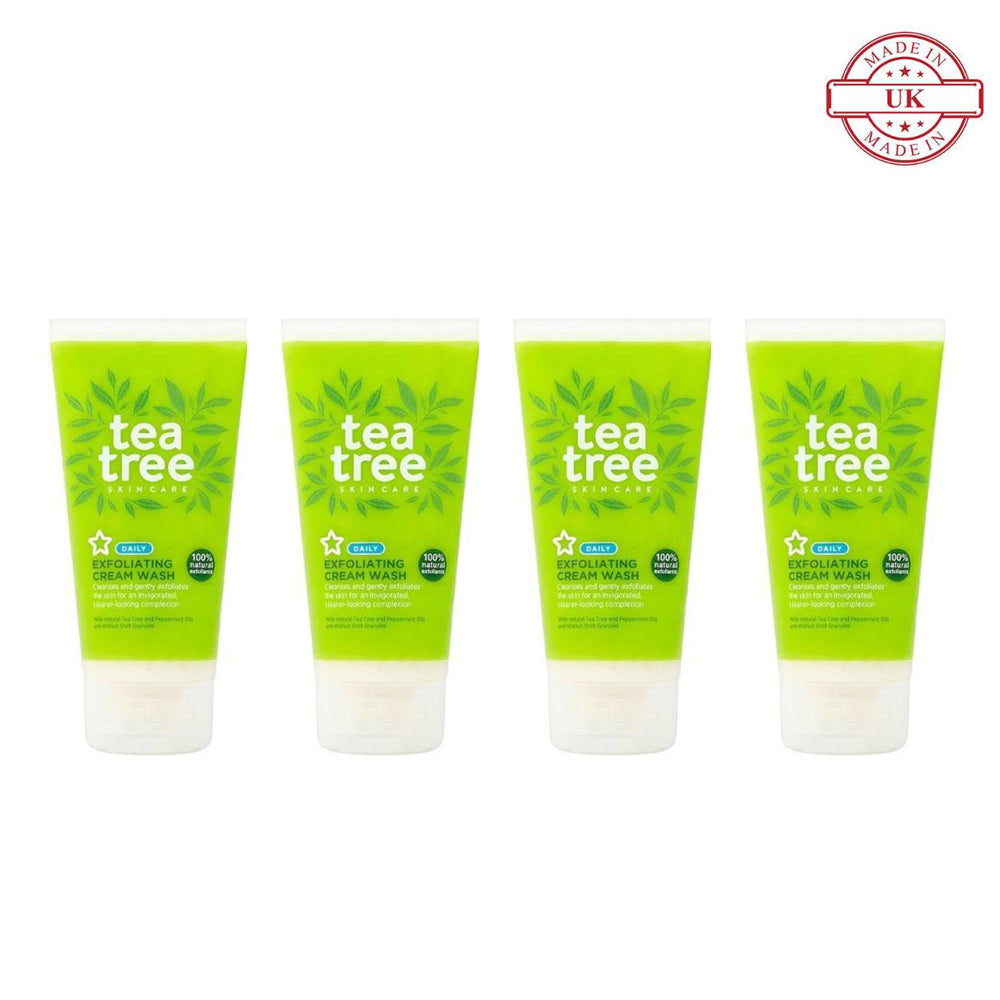 Superdrug Tea Tree Exfoliating Cream Wash 150ml 4Pcs Set